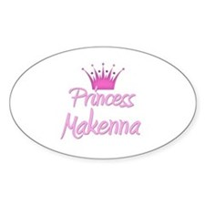 Princess Makenna Oval Decal