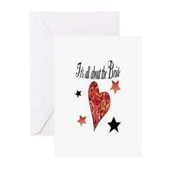 It's all about the Bride Greeting Cards (Package o