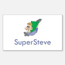 SuperSteve Rectangle Decal