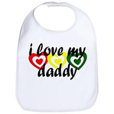 kids rasta love hearts - dadd Bib