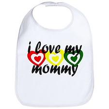Kids rasta love hearts - momm Bib