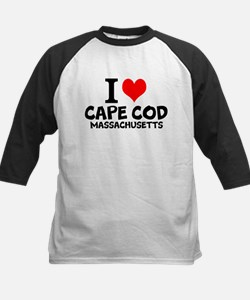 I Love Cape Cod, Massachusetts Baseball Jersey