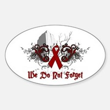 We Do Not Forget-AIDS Oval Decal
