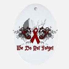 We Do Not Forget-AIDS Oval Ornament