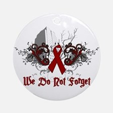 We Do Not Forget-AIDS Ornament (Round)