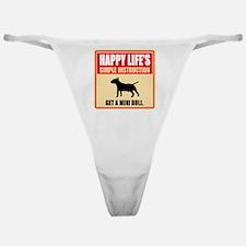 Miniature Bull Terrier Classic Thong