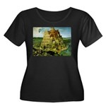 Babel Women's Plus Size Scoop Neck Dark T-Shirt
