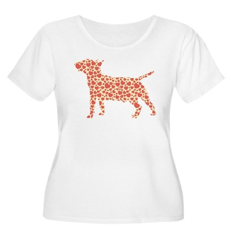 Miniature Bull Terrier Women's Plus Size Scoop Nec