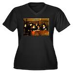 Staal Women's Plus Size V-Neck Dark T-Shirt