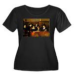 Staal Women's Plus Size Scoop Neck Dark T-Shirt