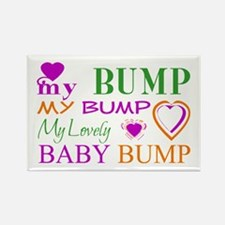 My Lovely Baby Bump Rectangle Magnet (100 pack)