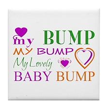 My Lovely Baby Bump Tile Coaster