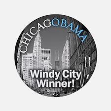The Windy City loves Obama (sticker)