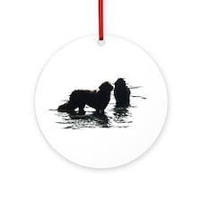 Newfies Hercules & Ursa Ornament (Round)