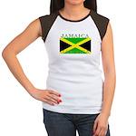 Jamaica Jamaican Flag Women's Cap Sleeve T-Shirt