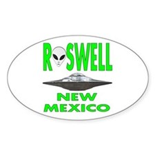 'Roswell New Mexico' Oval Decal