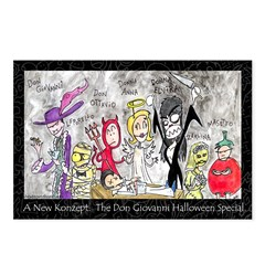 Don Giovanni Halloween Postcards (Package of 8)