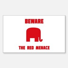 The Red Menace Decal