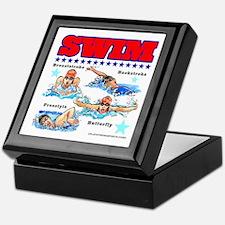Swimming (F) Keepsake Box