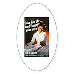 Be A Nurse Oval Sticker (10 pk)
