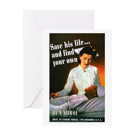 Be A Nurse Greeting Card