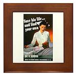 Be A Nurse Framed Tile