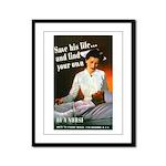 Be A Nurse Framed Panel Print