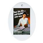Be A Nurse Oval Ornament