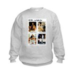 Freedom to Fight For (Front) Kids Sweatshirt