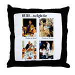 Freedom to Fight For Throw Pillow