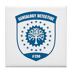 Genealogy Detective Tile Coaster