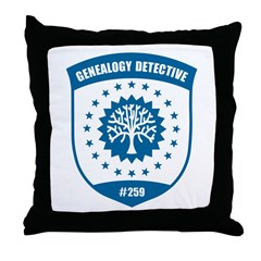 Genealogy Detective Throw Pillow