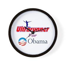 Ultrarunner for Obama Wall Clock
