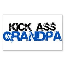 Kick Ass Grandpa Rectangle Decal