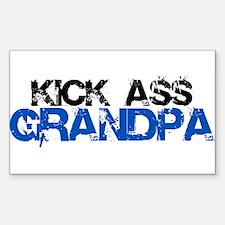 Kick Ass Grandpa Rectangle Decal