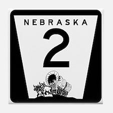 Highway 2, Nebraska Tile Coaster