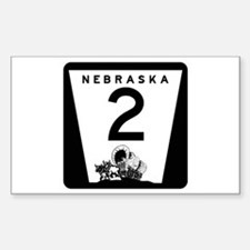 Highway 2, Nebraska Rectangle Decal