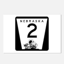 Highway 2, Nebraska Postcards (Package of 8)