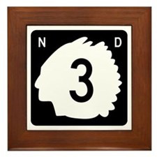 Highway 3, North Dakota Framed Tile