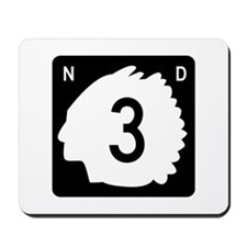 Highway 3, North Dakota Mousepad