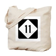 Highway 11, North Carolina Tote Bag