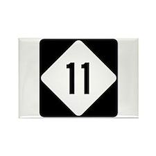 Highway 11, North Carolina Rectangle Magnet (10 pa