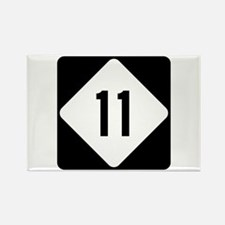 Highway 11, North Carolina Rectangle Magnet (10 pa