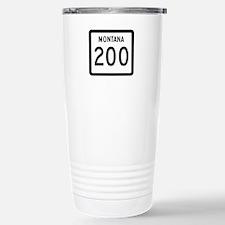 Highway 200, Montana Stainless Steel Travel Mug