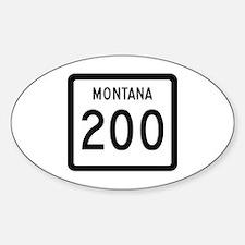 Highway 200, Montana Oval Decal