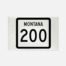 Highway 200, Montana Rectangle Magnet