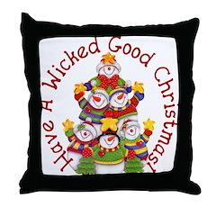 Wicked Good! Snowmen Throw Pillow