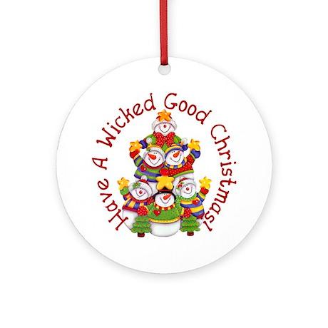 Wicked Good! Snowmen Ornament (Round)