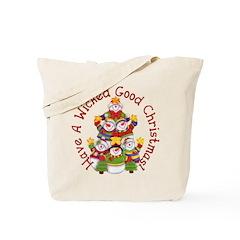 Wicked Good! Snowmen Tote Bag