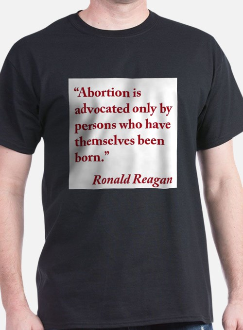 reagan-abortion-quote-square T-Shirt